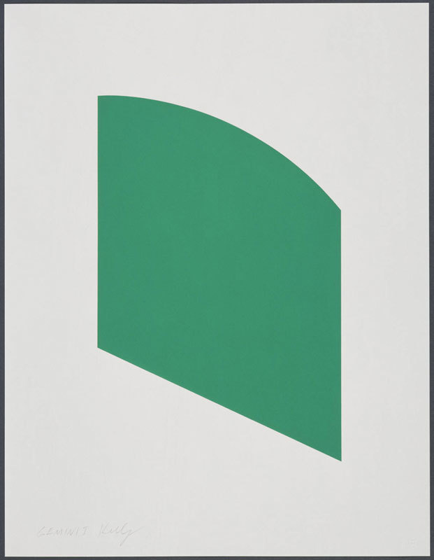 Ellsworth Kelly, Green Curve, 2002