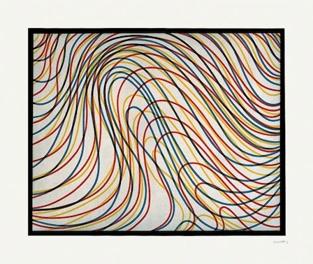Sol Lewitt, Wavy Lines with Black Border