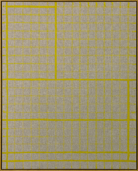 Bertrand Fournier Yellow lines on yellow grid