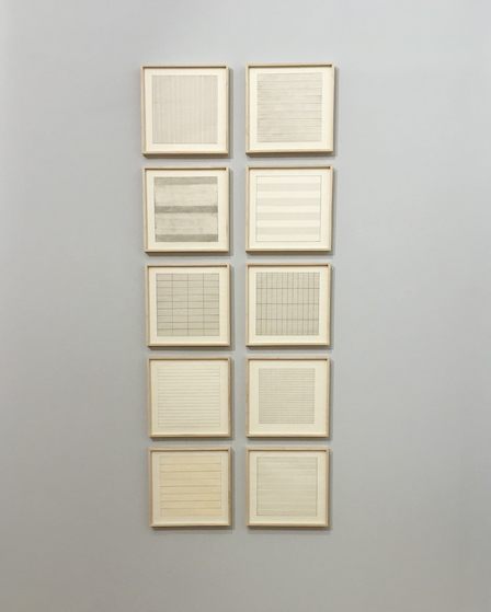 Agnes Martin Untitled (complete Serie)